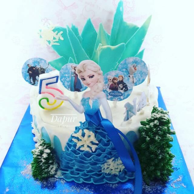Frozen Elsa Birthday Cake Kue Ulang Tahun Frozen Elsa