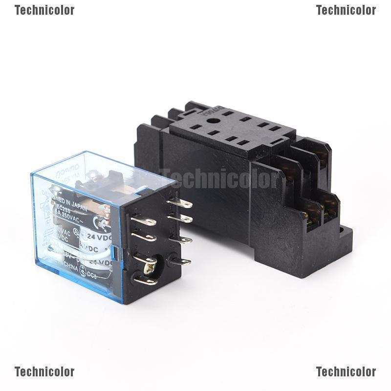 [Bayar di Tempat]24VDC 5A Coil Power Relay MY2NJ HH52P-L 8 Pins 2P2T on