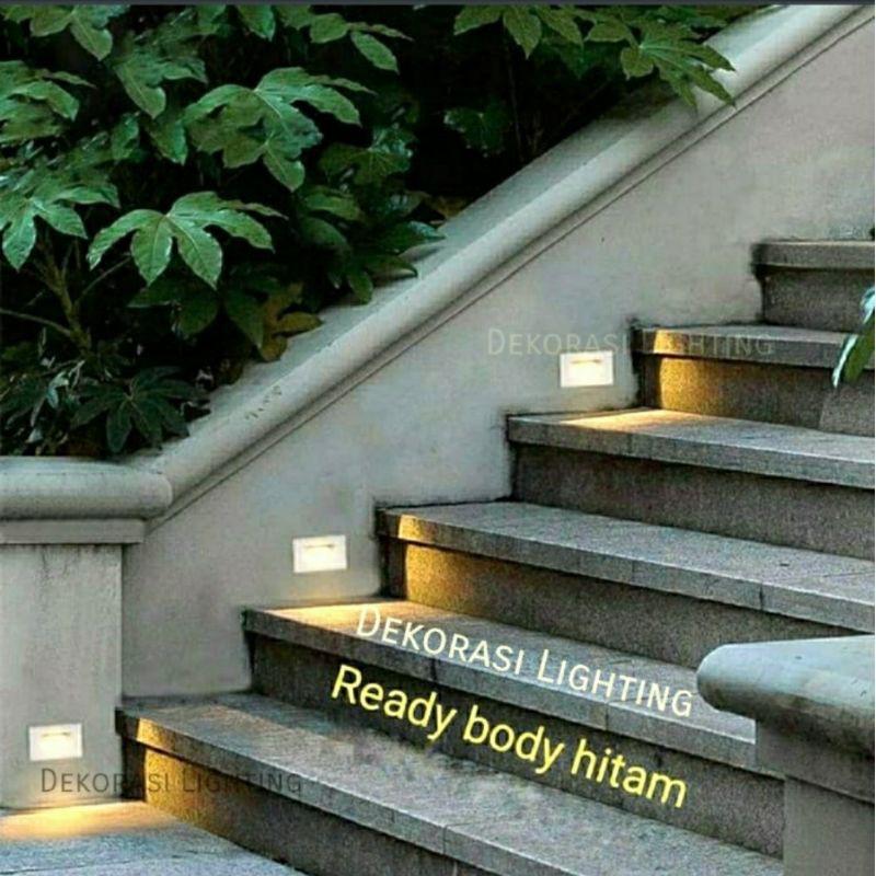 H212b Lampu Tangga Led Waterproof Bulat Stairs Lampu Taman Lantai Shopee Indonesia