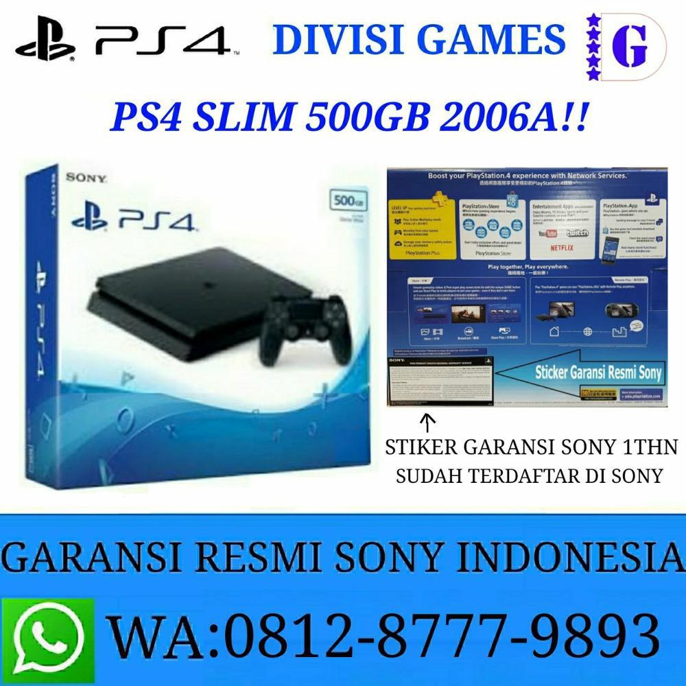 Ps4 Slim Jet Black 500gb Garansi Resmi Sony 1 Year Shopee Indonesia Playstation 4 Cuh2006a Thn