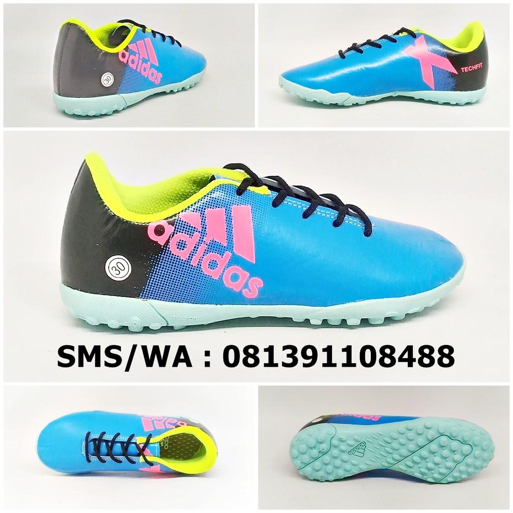 Sepatu Futsal Anak Adidas X Techfit Biru Hitam Hijau Stabilo 28 29 Size 32 30 31 Kids Terbaru 2018 Shopee Indonesia