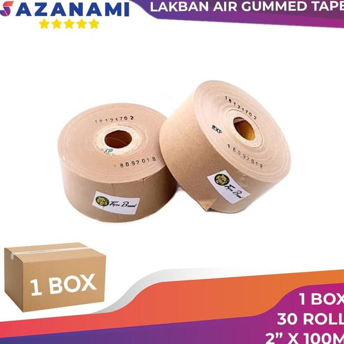 "1 BOX GUMMED TAPE 2"" x 100M Gummed paper craft Tape Tiger LAKBAN AIR | Office & Stationery |"
