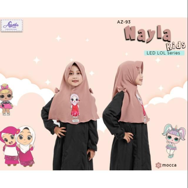 Jilbab Led Jilbab Menyala Kartun Muslimah Jilbab Anak Kekinian Jilbab Nayla Kids Lol Azamka Shopee Indonesia