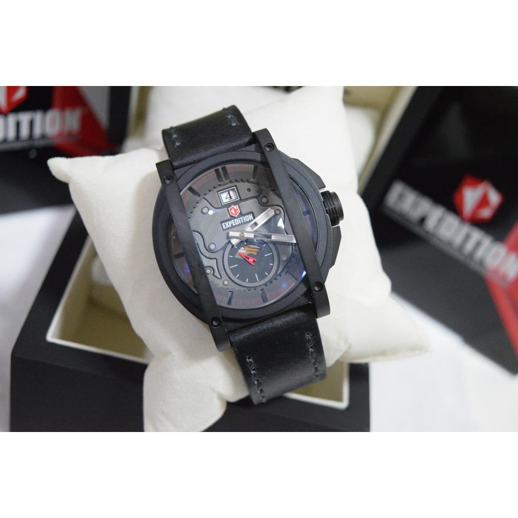 Jam Tangan Pria Expedition E6386m Original Lihat Daftar Harga 6631 Black Orange Triple Time E6725 Limited Edition Garansi Resmi International Shopee Indonesia