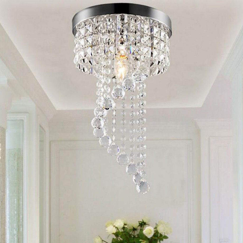 Modern led galaxy spiral crystal chandelier lamp fixture lighting pendant decor
