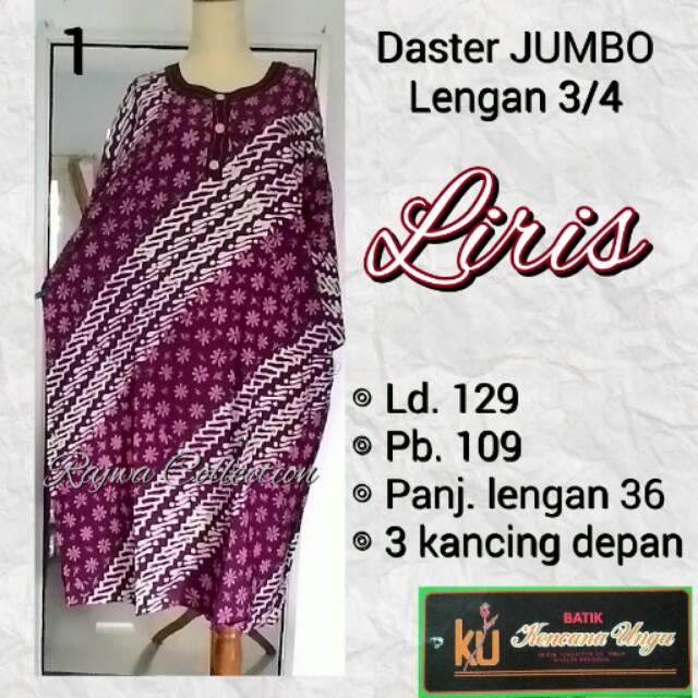 Daster JUMBO lengan 3 4 kencana ungu label hitam  02be05f71c