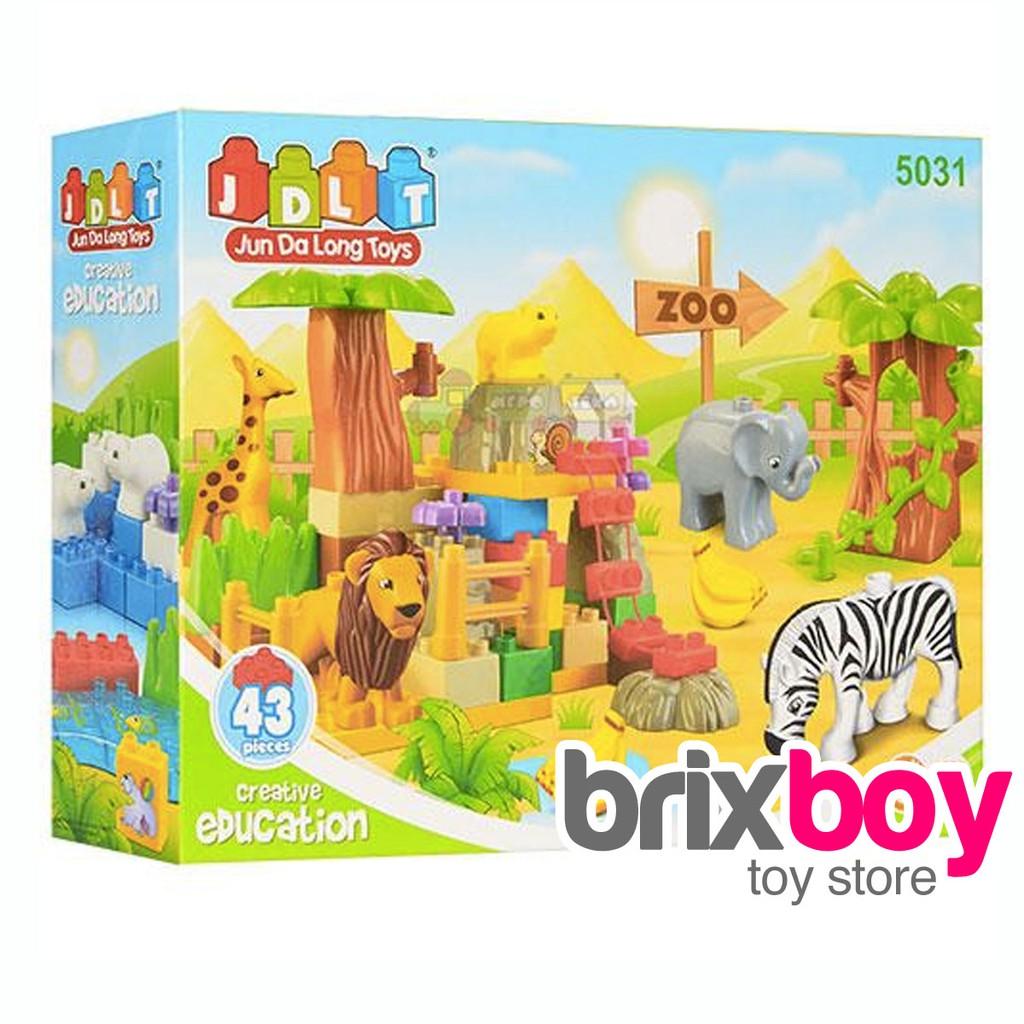 Mainan Blocks Duplo Anak Happy Zoo Animals - 43pcs JDLT ...