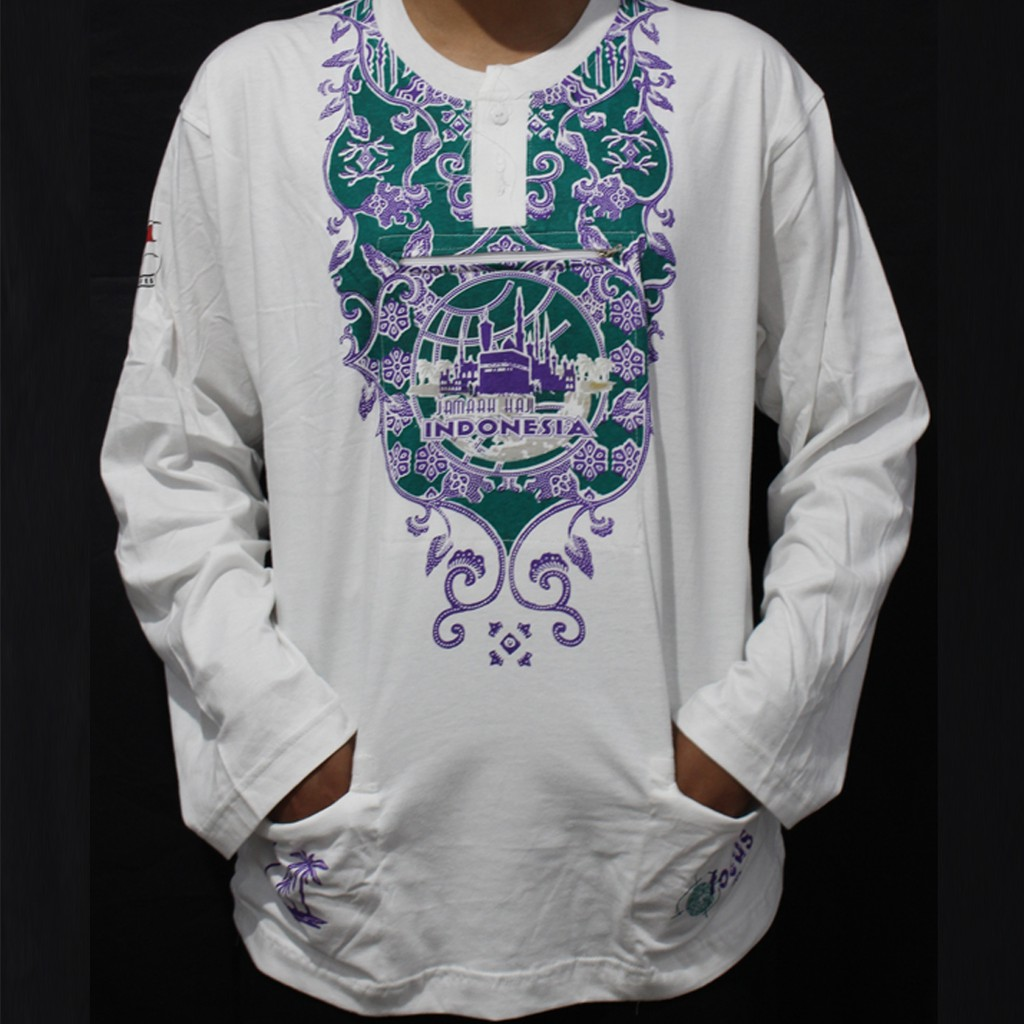 Kaos Dalam Haji Lengan Pendek Berkantong Exclusive Saku Depan Umrah Pria Shopee Indonesia