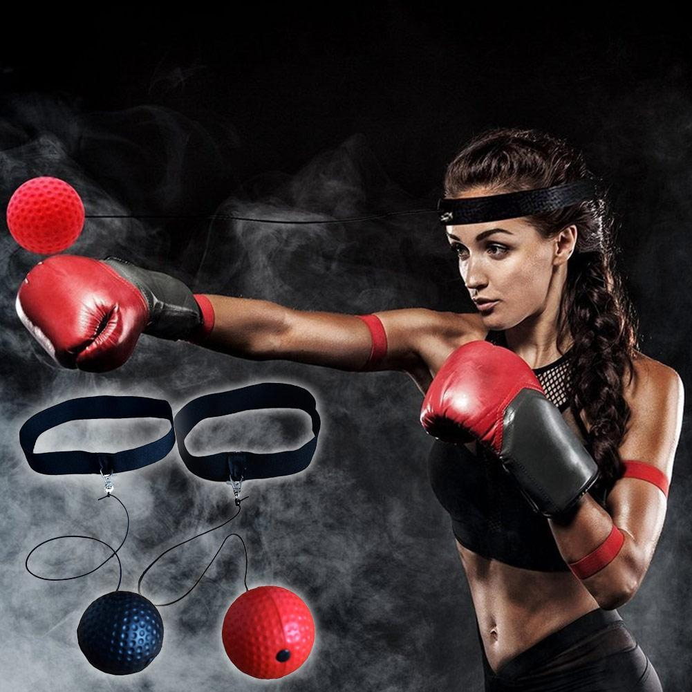 Boxing Fight Ball With Head Band For Reflex Reaction Speed Training Box Punch CF