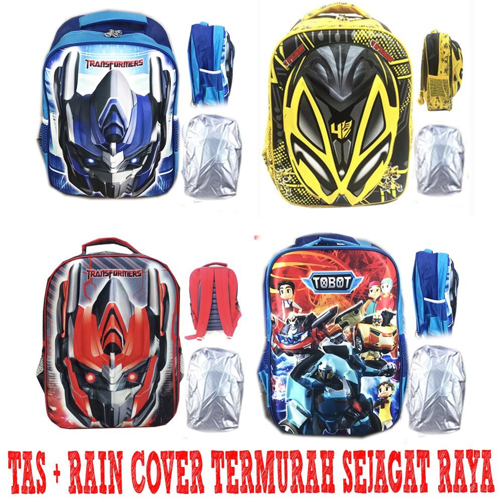 Free Ongkir Tas Ransel Sekolah Sd Transformer Optimus Prime Anak I Trolley Transformers Bumblebee Tobot Iron Man Hard Cover