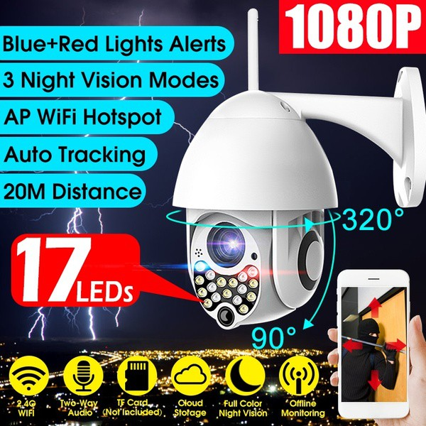 HD 1080P WIFI Wireless IP Outdoor Security Camera Night Vision Waterproof