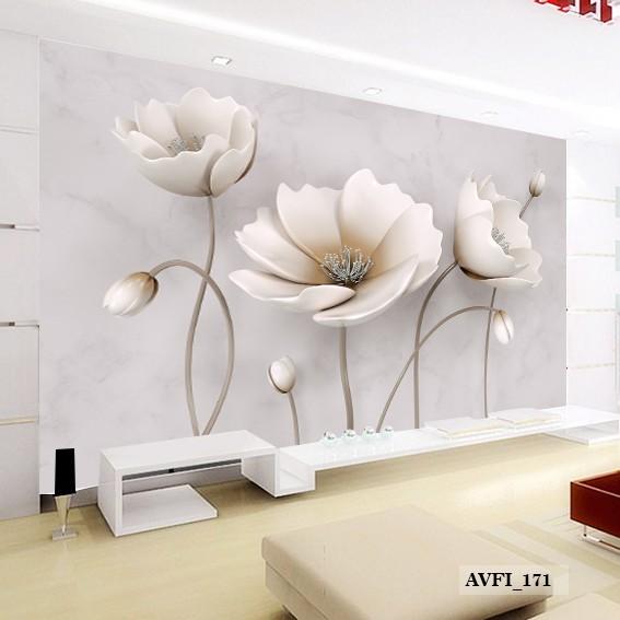Wallpaper Dinding Custom 3d Wallpaper Bunga 3d Murah Shopee Indonesia