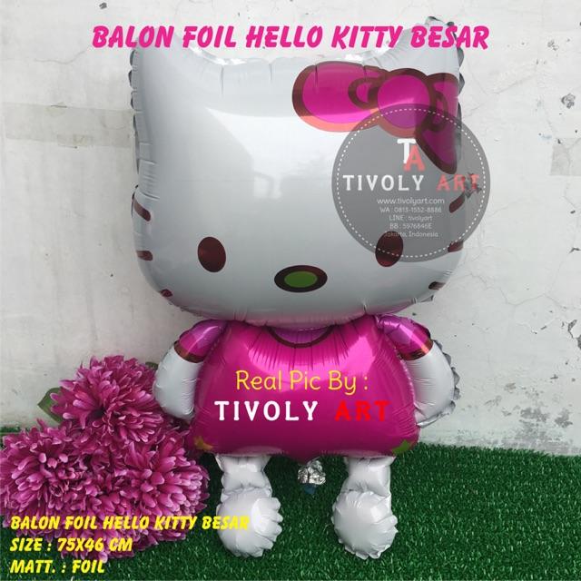 Balon Foil Hello Kitty Besar