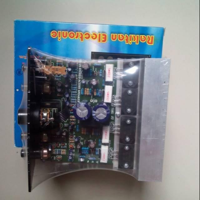 Kit amplifier + echo utk aktif speaker final sanken