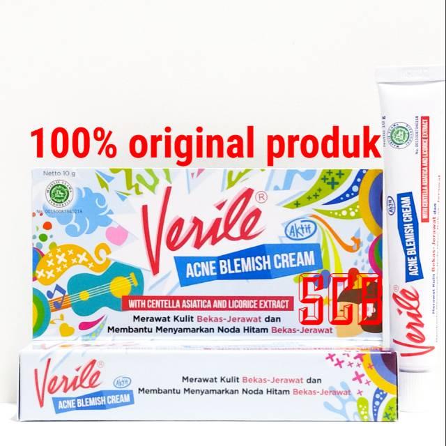 Verile Acne Blemish Cream - Obat Cream Menyamarkan Noda ...