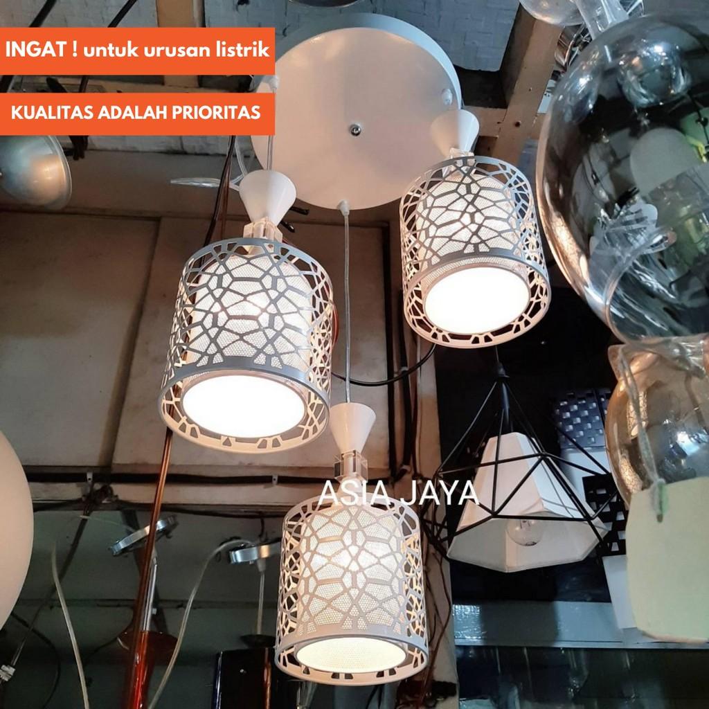 Lampu Gantung Lampu Hias Lampu Meja Makan Lampu Cabang 3 9858 9656 Shopee Indonesia
