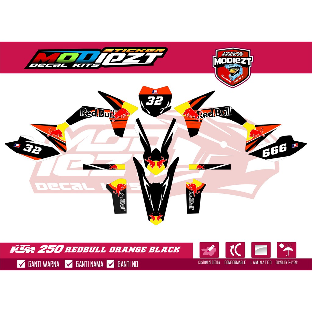 Decal ktm 250 redbull shopee indonesia