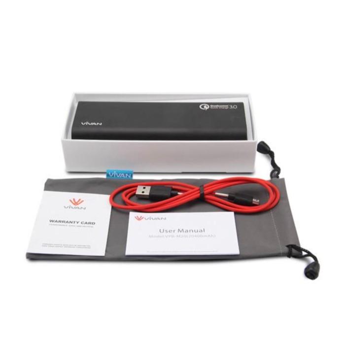 Powerbank ViVAN VPB-M20 - 20400mAh - Quick Charge 3.0 ORIGINAL VIVAN 100%