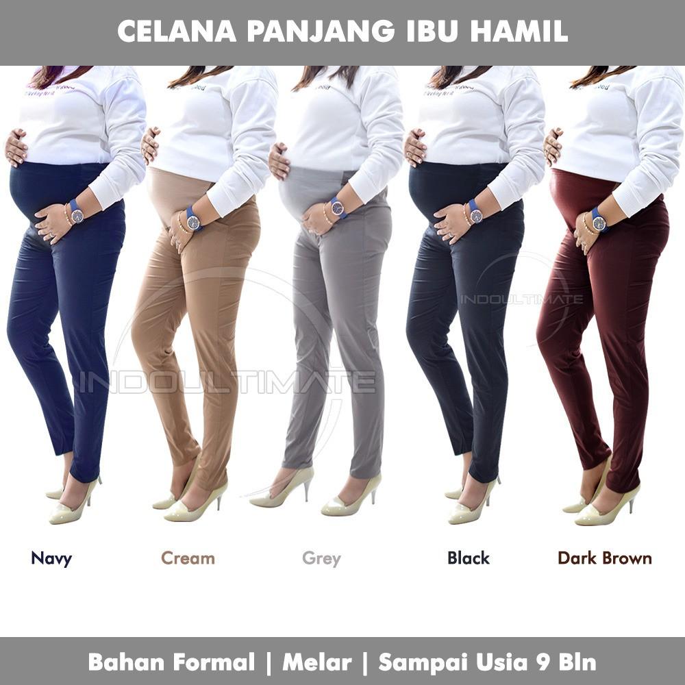 Celana Hamil Kerja Panjang Kain Katun Kantor Ibu Hamil By Ch 01 Leging Baju Pakaian Ibu Hamil Shopee Indonesia