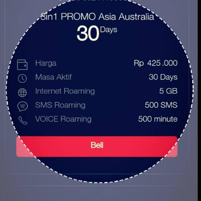 Paket Roaming 3in1 Asia Australia Shopee Indonesia