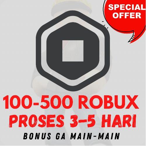 ROBUX ROBLOX + BONUS / TERMURAH DAN TERCEPAT (100-500 ROBUX)
