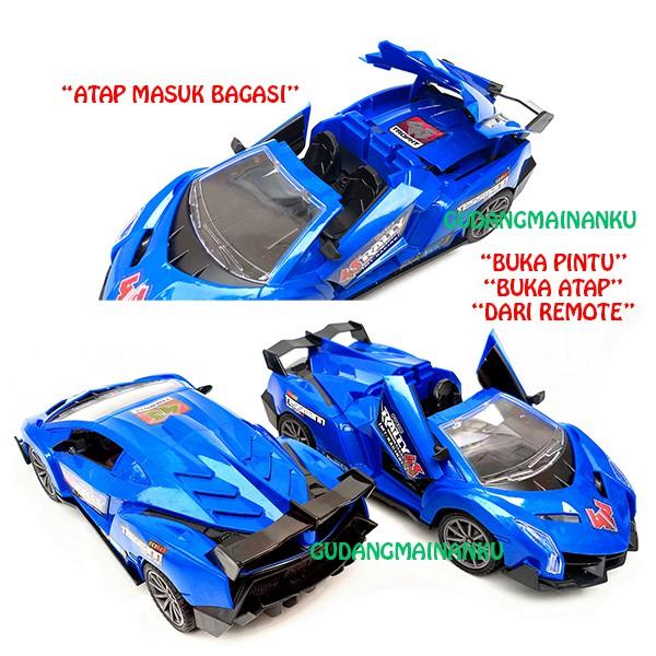 Mobil Remot Rc Remote Control Buka Atap Dan Pintu Lamborghini Lampu Depan Led Shopee Indonesia