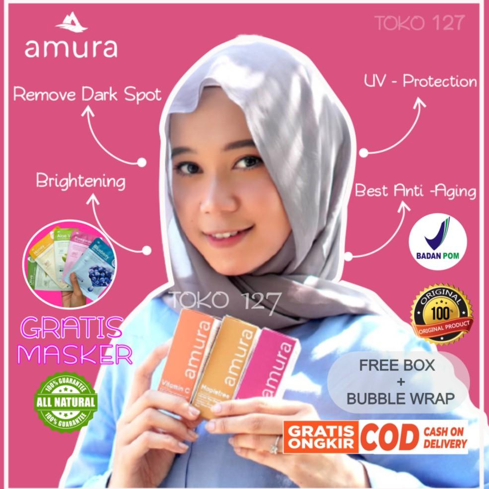 AMURA Serum Expert Serum Gold Kecantikan Skincare Skin care Wajah Flek Hitam Acne Jerawat Asli BPOM