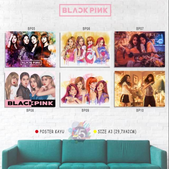 Blackpink All Member Photo Poster Kayu Dekorasi Kamar Cewek Kpop Korea Lisa Snsd Exo Bts Blink Twice Shopee Indonesia