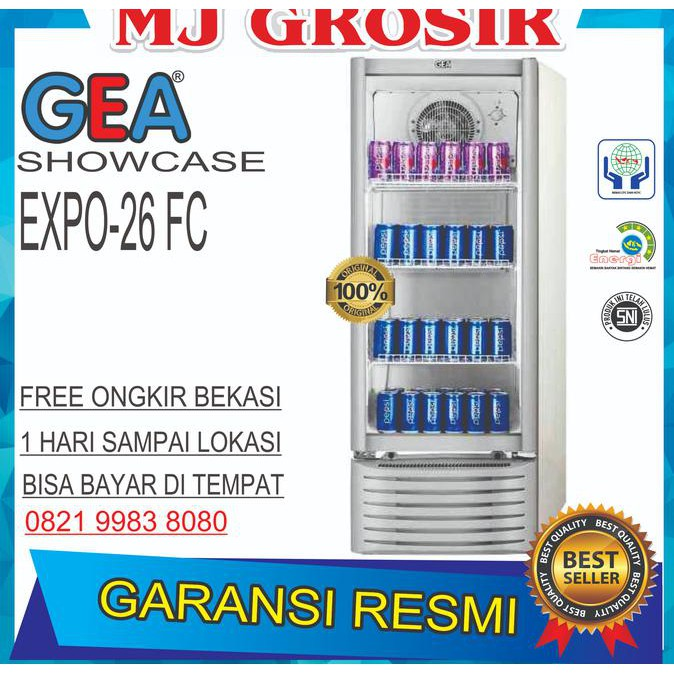 Bestseller Showcase Gea Expo 26 Fc Display Cooler Kulkas Minuman Low Watt | Shopee Indonesia