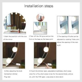Vanity Mirror LED 3WARNA CAHAYA - Lampu Hias Rias Kaca ...
