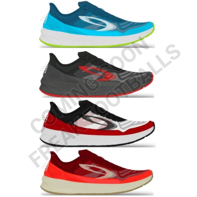Sepatu Lari Running Nineten Geist Ekiden Elite Biru Hitam Putih Merah Original 910