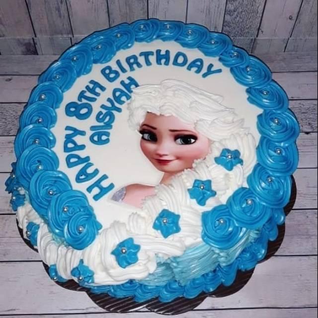 Kue Ulang Tahun Karakter Frozen Elsa Cake Ultah Tart Blackforest Vanilla