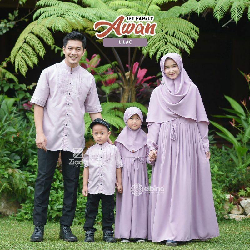 SET & DRESS FAMILY AWAN ELBINA HIJAB GAMIS MURAH & SYAR'I DRESS CASUAL, SYAR'I ELBINA HIJAB OFFICIAL