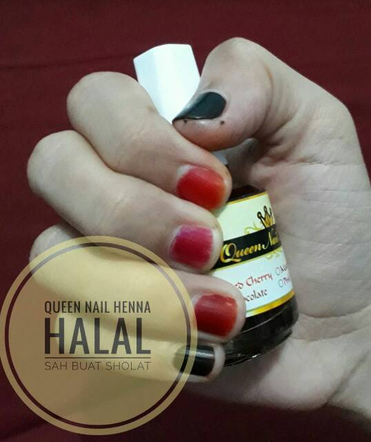 Queen Nail Henna Red Cerry Shopee Indonesia