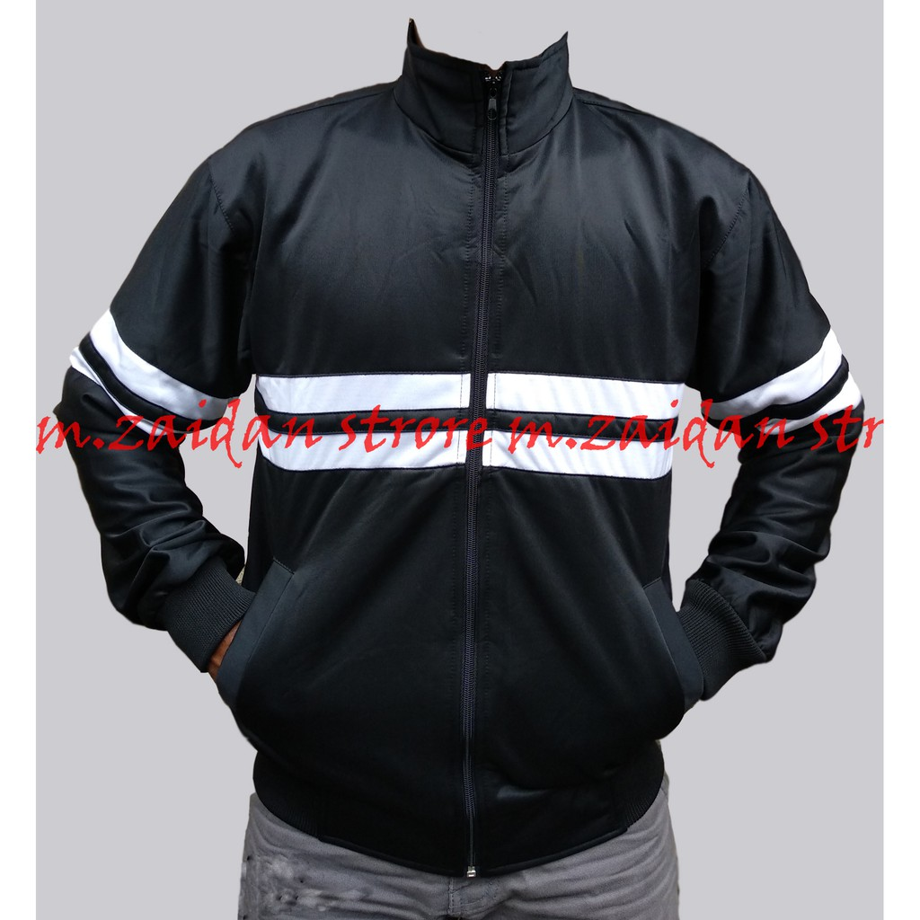 Jaket Tracktop Casual Ultras Premium Best Seller HITAM-BIRU  caf5ab84f1