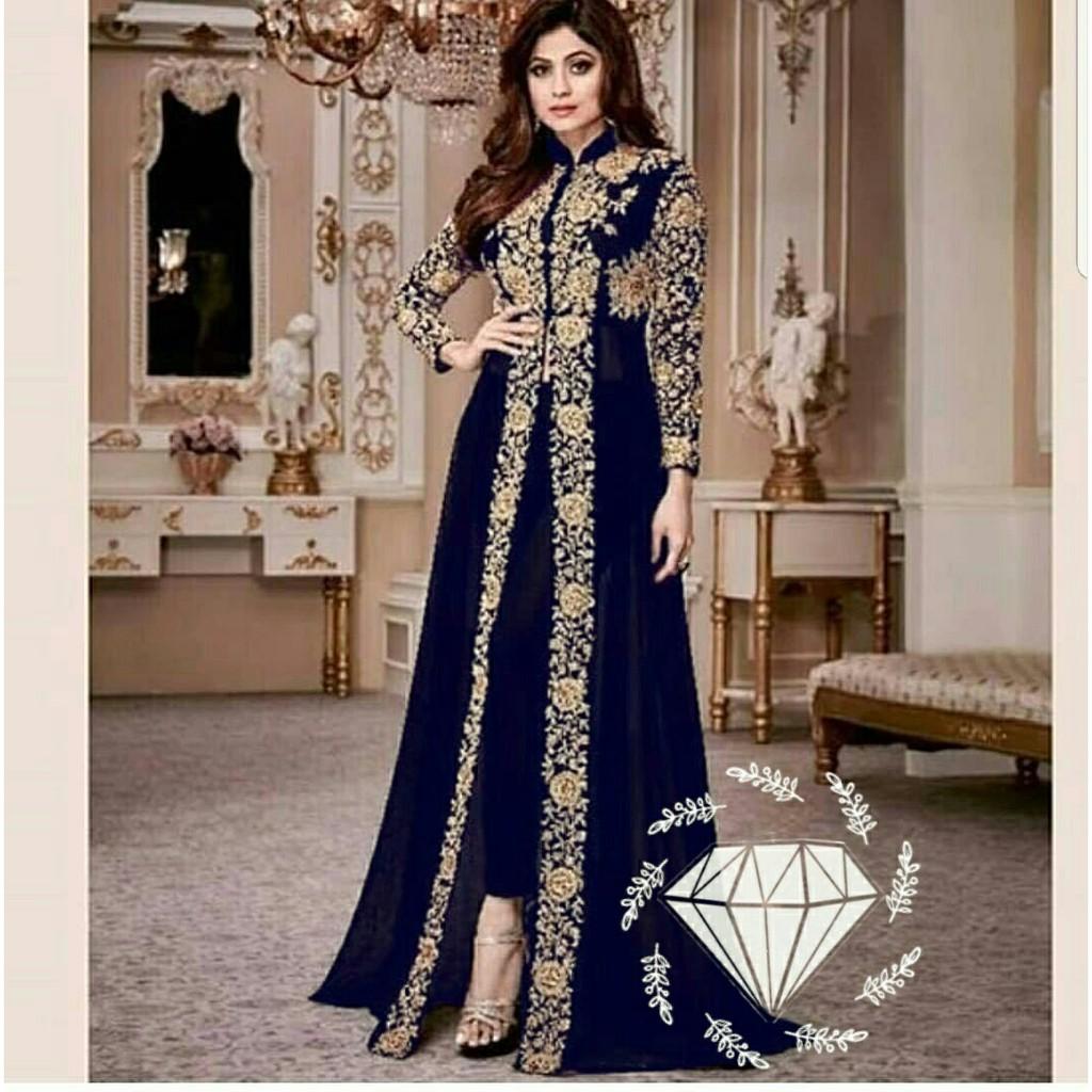 HCL Setelan Yanka - Gamis Wanita Formal Model India - Dress Muslimah Trendy  - Busana Muslimah