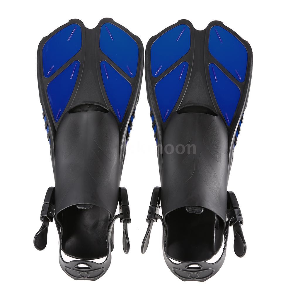Lixada Sepatu Sirip dengan Heels Adjustable untuk Renang / Diving / Snorkeling