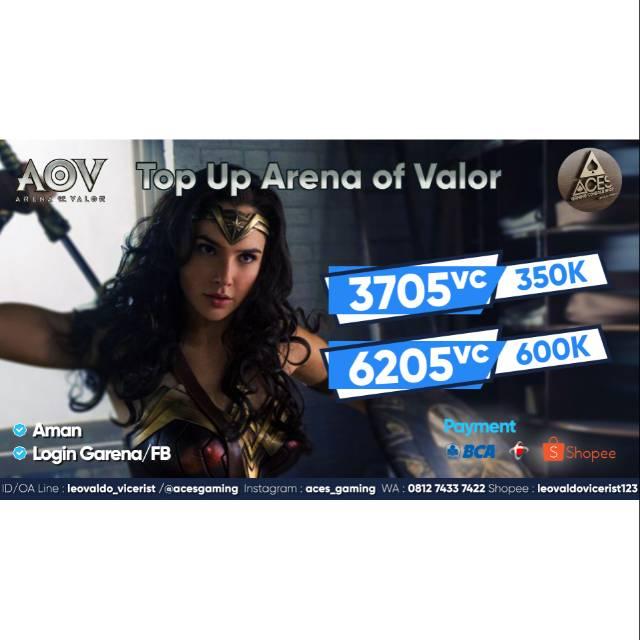 Top Up Voucher AoV (Arena of Valor) 100% safe & aman