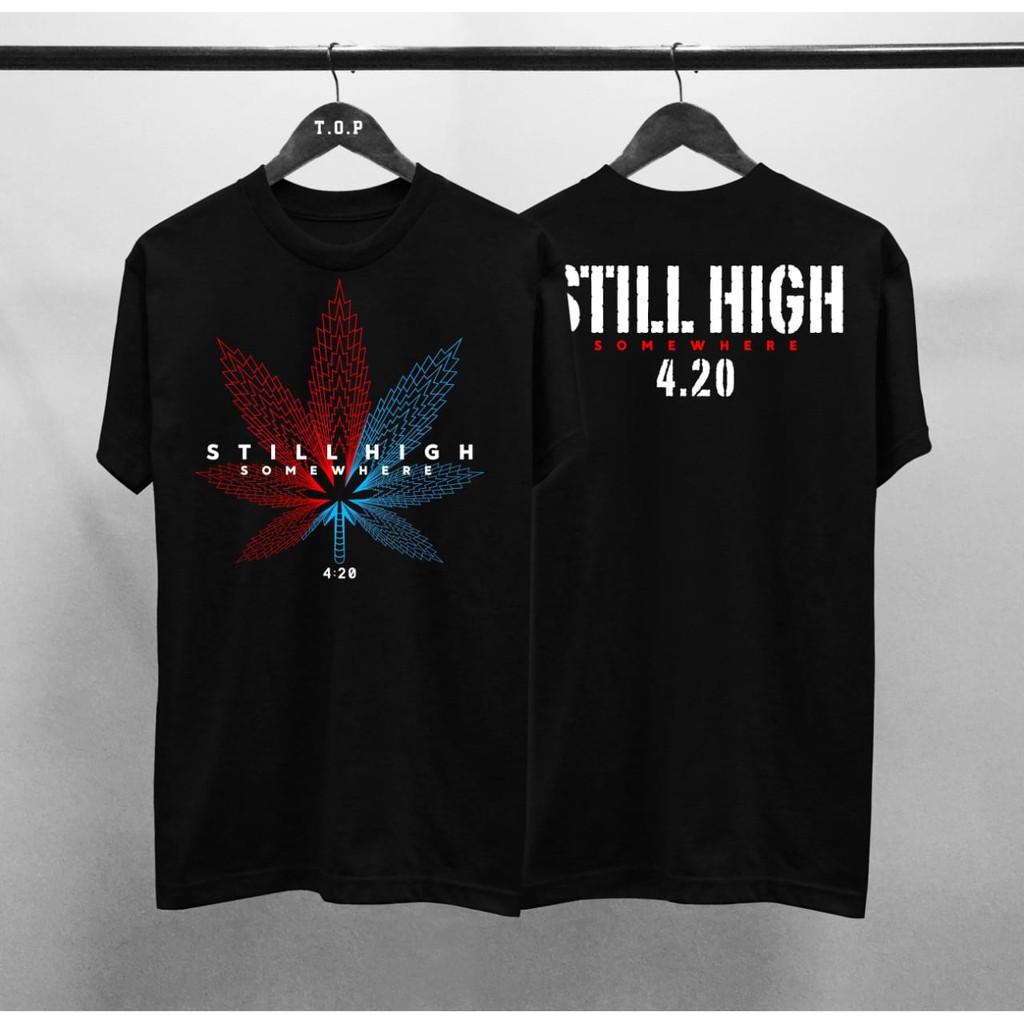 Pbm Kaos Distro 420 Daun Warna Cotton Combed 30s Atasan T Shirt Pria Sablon Depan Belakang Shopee Indonesia