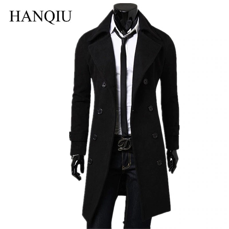 Long Coat Autumn Winter Double Ted, Fashionable Long Trench Coats