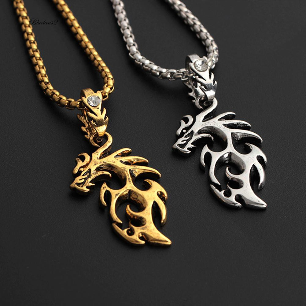 LRC Kalung Pria Trendy Silver Color Gs Live Game Pattern Decorated Simple Necklace | Shopee Indonesia