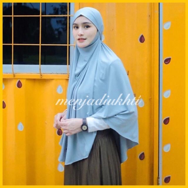 French Khimar Jersey Warna Favorite Shopee Indonesia