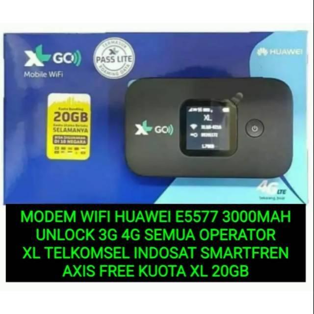 3000mah Huawei E5577 Modem Wifi Xl Go Max Unlock Semua Operator Kuota 20gb 10 Negara Shopee Indonesia