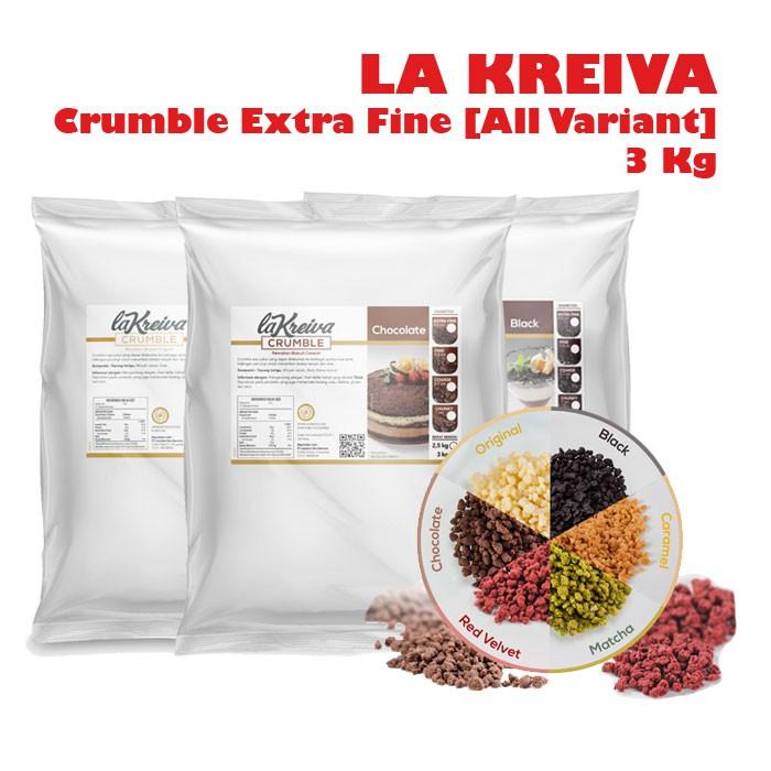 Biskuitkemasan: La Kreiva Crumble Extra Fine 3 Kg / Remahan Biskuit