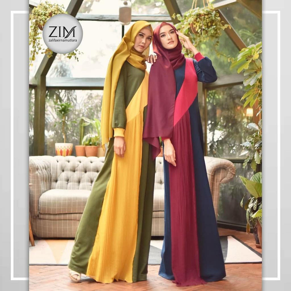 Baju Muslim Wanita - Dress CELLINE - Gamis ZALIFA X IM