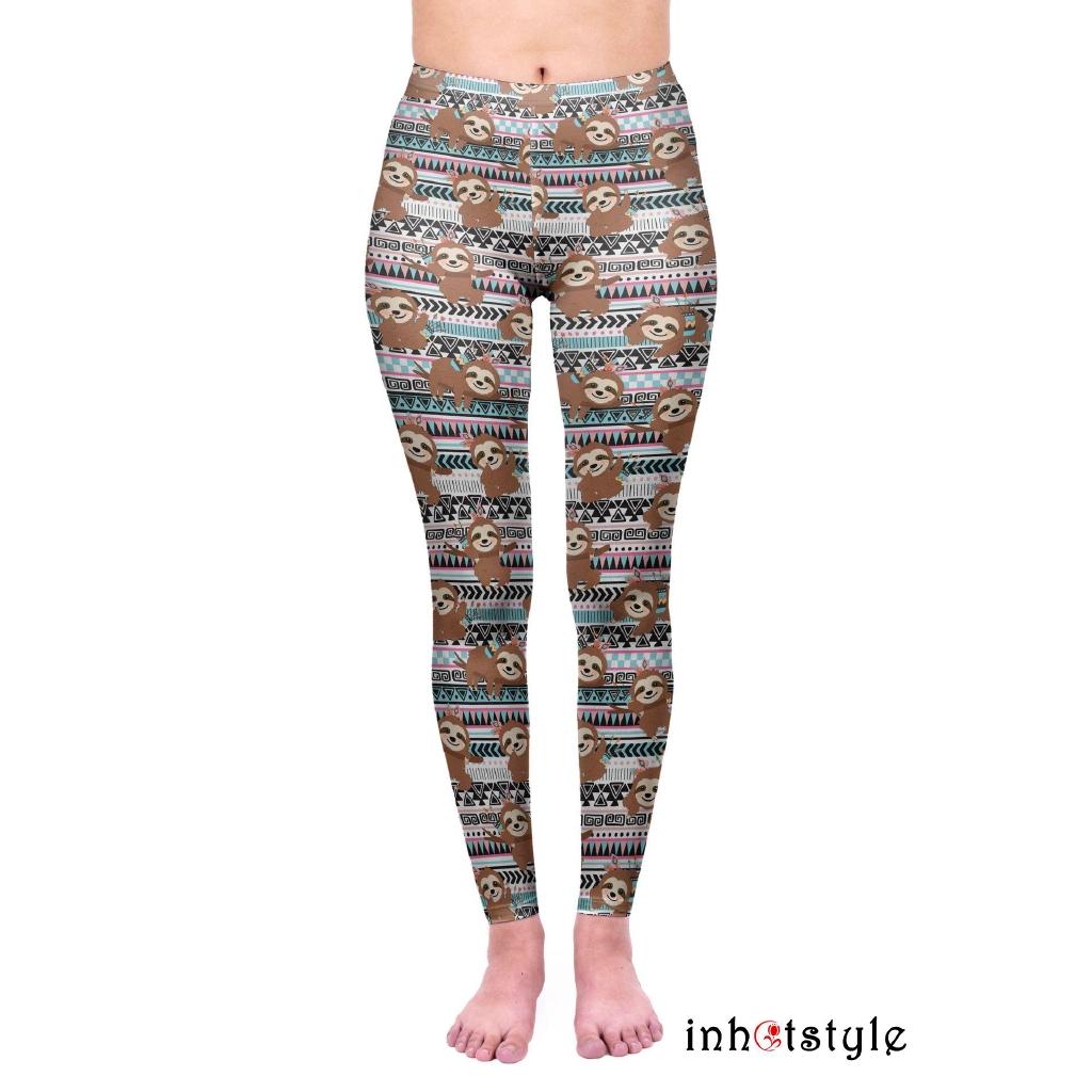 Celana Legging Panjang Wanita Model Mid Waist Bahan Milk Silk Nyaman Untuk Yoga Shopee Indonesia