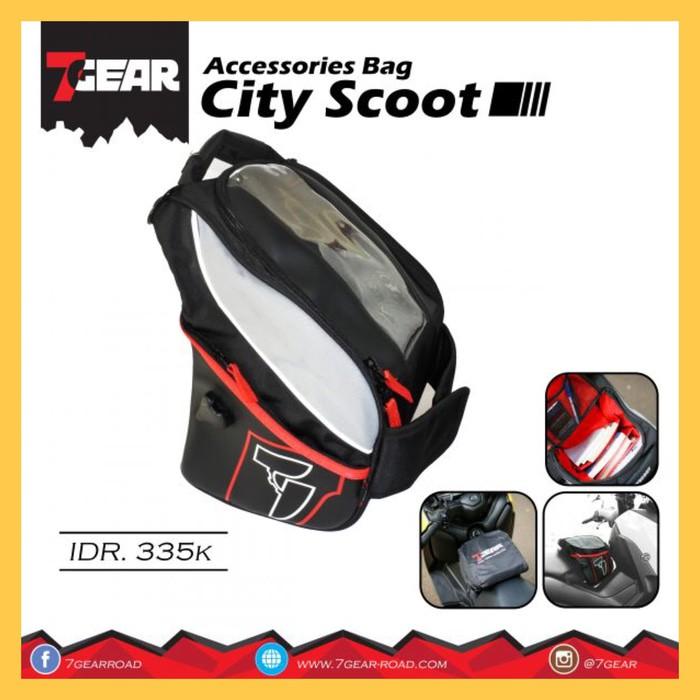 Jual 7GEAR City Scoot Tunnel Bag Maxi Scooter NMAX XMAX TMAX PCX Aerox Murah