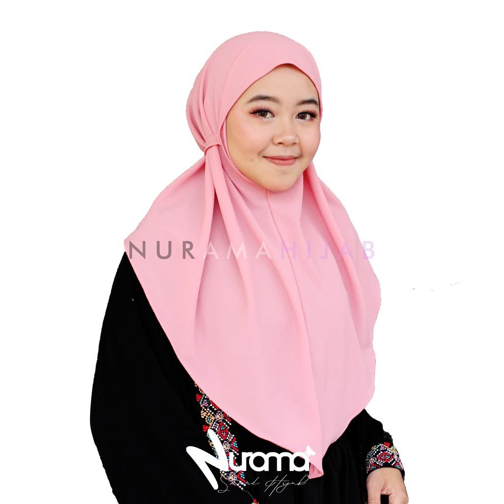 Bergo Maryam Bubble Size S Khimar Tali Hijab Simple Non Ped Shopee Indonesia