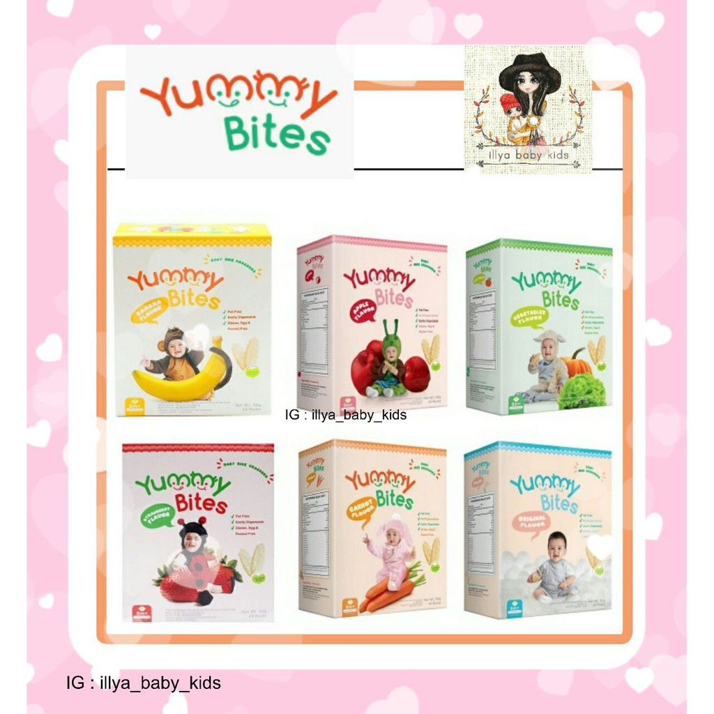 Bestseller Yummy Bites Snack Krekers Beras Bayi Dengan 5 Rasa 123 50gr Biskuit Baby Rice Crackers Makanan Favorit Shopee Indonesia