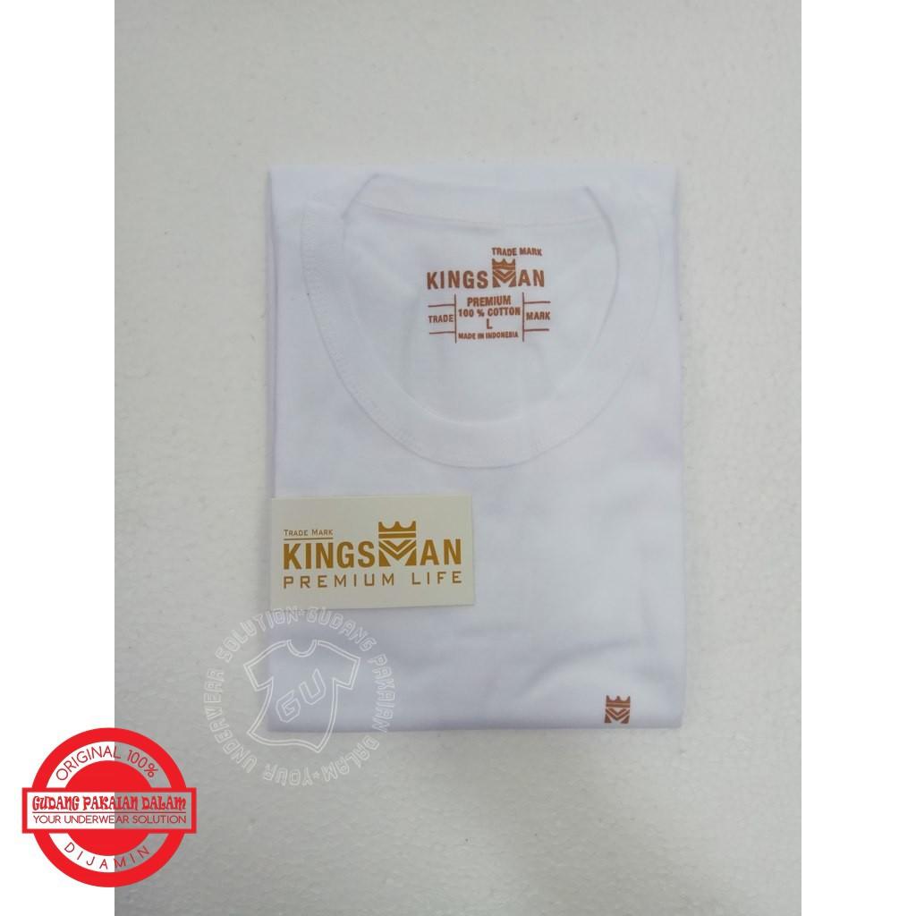 Putih Hitam Kaos Oblong Pria Merk Kingsman Pakaian Dalam Gt Man Gtman Kmj02 Shopee Indonesia